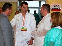Martin Carda, primář oddělení úrazové chirurgie Chirurgické kliniky Pardubické nemocnice a vedoucí zásahového týmu traumatologického plánu.