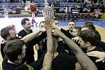 Finále Českého poháru v basketbalu mužů: BK JIP Pardubice - ČEZ Basketball Nymburk.