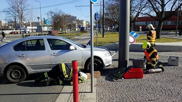 Dopravní nehoda u pardubického nádraží