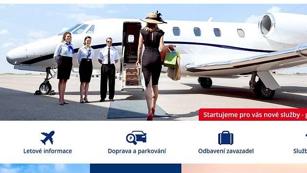 Nová podoba webu pardubického letiště