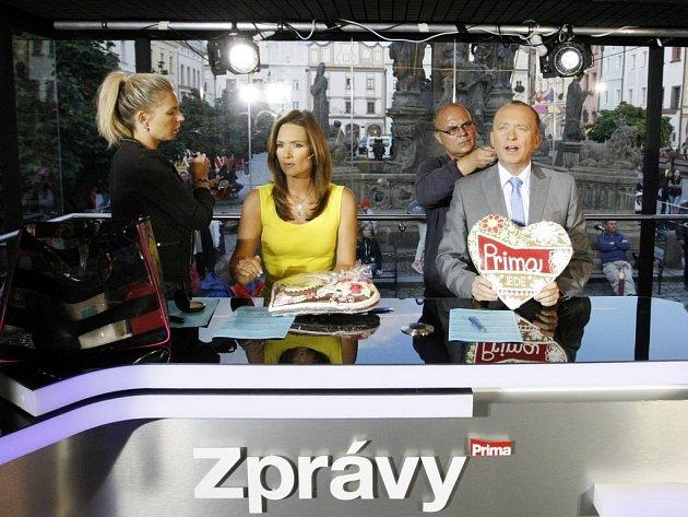 Pardubáci se mohli setkat s moderátory i herci z televize Prima. Vysílalo se z Pernštýnského náměstí.