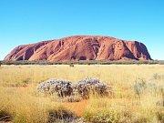 A tady Uluru - menší, ale ikoničtější.