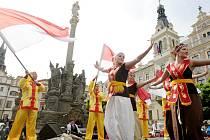 Multikulturní jarmark na Pernštýnském náměstí v duchu Indonésie.
