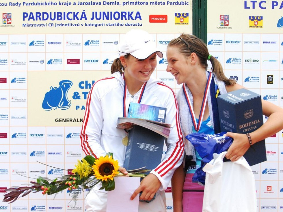 Loňské finalistky. Tereza Malíková (vlevo) ani Klára Plíšková letos nedorazí.