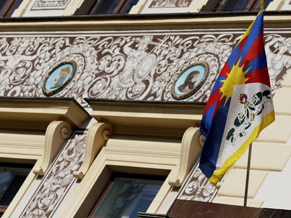 den k cz tibetsk vlajka na pardubick radnici