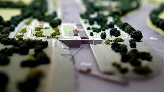 Model kanálu, který by se měl u Přelouče vybudovat