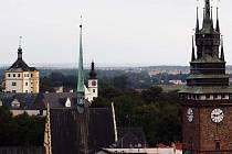 Pohled na město Pardubice.