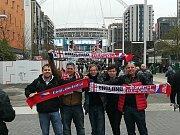 Fanoušci z Pardubického kraje ve Wembley.