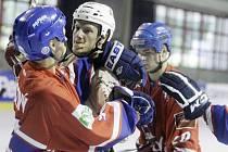Semifinále Final four Reebok extraligy v in-line hokeji Pardubice – Slavia Praha 4:6