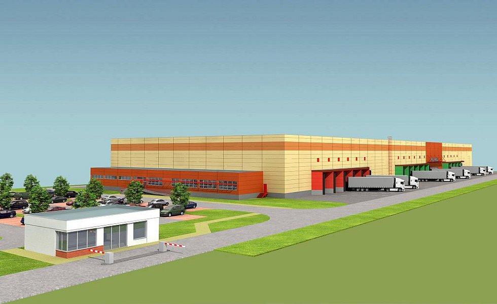 Vizualizace konečné podoby logistického centra