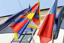 Ústí nad Orlicí vyvěsilo tibetskou vlajku.
