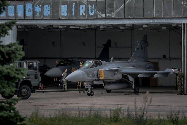 Stíhací letoun JAS-39 Gripen.