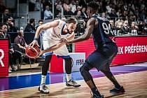 Z kvalifikačního utkání na MS v basketbalu Česká republika vs. Francie
