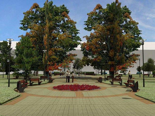 Vizualizace pardubického náměstí Legií.