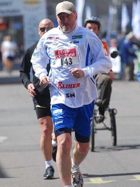 Pardubického vinařského půlmaratonu se zúčastnil i Miloš Říha.
