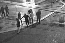 Skupina podnapilých osob si tah městem zpestřila o vandalismus i striptérské vystoupení za výlohou.