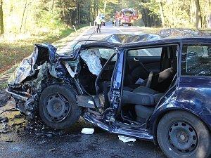 Sobotní nehoda se stala na silnici I/27 mezi odbočkami na Dobřany a Chlumčany