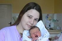 Jirka (3,50 kg, 49 cm), který přišel na svět 31. 12. v8.30 hod. vMulačově nemocnici, je prvorozeným synem Aleny Černé a Jiřího Šika ze Snopoušov
