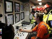 Návštěva ražby severního tubusu budoucího železničního tunelu.
