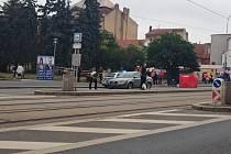 Z místa tragické nehody na Klatovské třídě v Plzni.