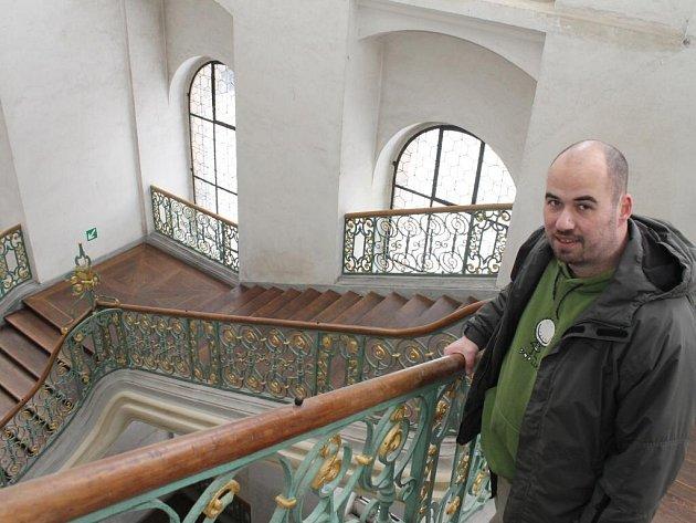 Schodiště architekta Jana Blažeje Santiniho Aichela v plaském klášteře