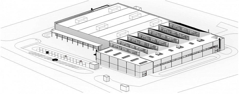 Vizualizace nové haly Škody Transportation.