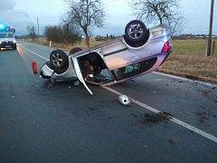Nehoda osobního auta u Tisové na Tachovsku