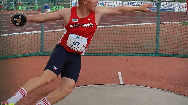 Diskař Jakub Forejt (na archivním snímku) vyhrál na juniorském šampionátu soutěž diskařů před bratrem Michalem.