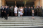 Rozloučení s vojákem Patrikem Štěpánkem v kostele Panny Marie Růžencové na Jiráskově náměstí v Plzni proběhlo se všemi vojenskými poctami.