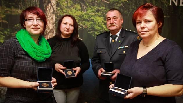 Zleva: Hedvika Maroušková, Zuzana Hovorková, Alois Stupka a Blanka Nováková
