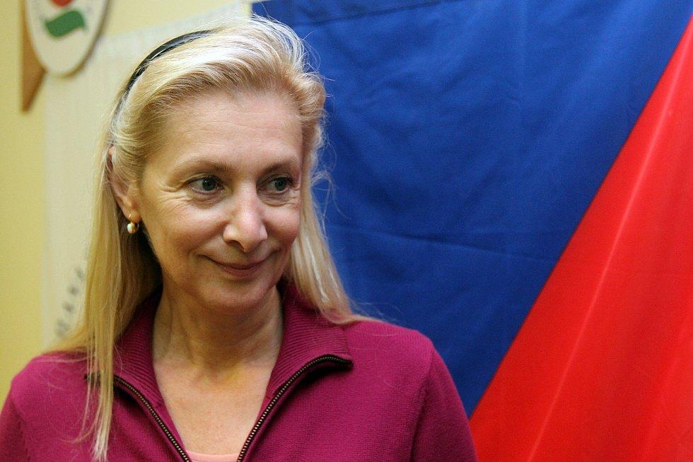 štáb ČSSD v plzeňském sídle strany a náměstkyně plzeňského primátora Eva Herinková