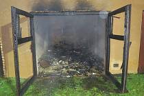 Požár garáže