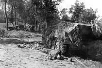 Část zničených německých obrněných  jednotek v bitvě o Mortain v srpnu 1944