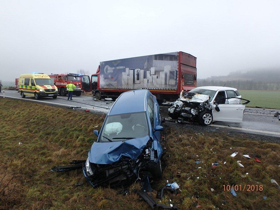 Tragická dopravní nehoda u Borov na jižním Plzeňsku.