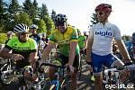 Do závěrečného závodu Giant ligy nastoupili také bývalí excelentní cyklisté nedávné minulosti (zleva) Václav Zvonař, Lubor Tesař a Petr Pučelík.