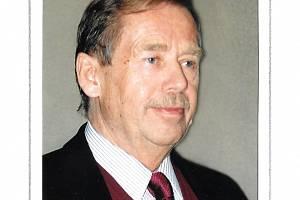 Václav Havel na archivní fotografii Evy Hubatové.