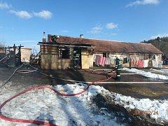 K požáru zemědělského objektu v Čepinci došlo v sobotu v odpoledních hodinách.