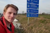 Sedmnáctiletý Vojtěch Jakoubek urazil během své cesty do Francie 2350 kilometrů