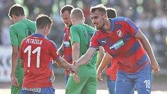Fotbalisté Viktorie Plzeň v utkání MOL Cupu nezaváhali. Ve Vyškově porazili domácího účastníka třetí nejvyšší soutěže  (Moravskoslezské fotbalové ligy) a postoupili do osmifinále domácí pohárové soutěže.