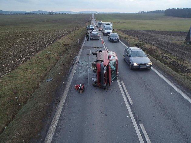 Nehoda u Horní Lukavice