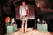 Inscenace Divadla Alfa Pohoršovna. Na snímku Blanka Josephová-Luňáková v roli ředitelky Pohoršovny Zloberty Škudibertové