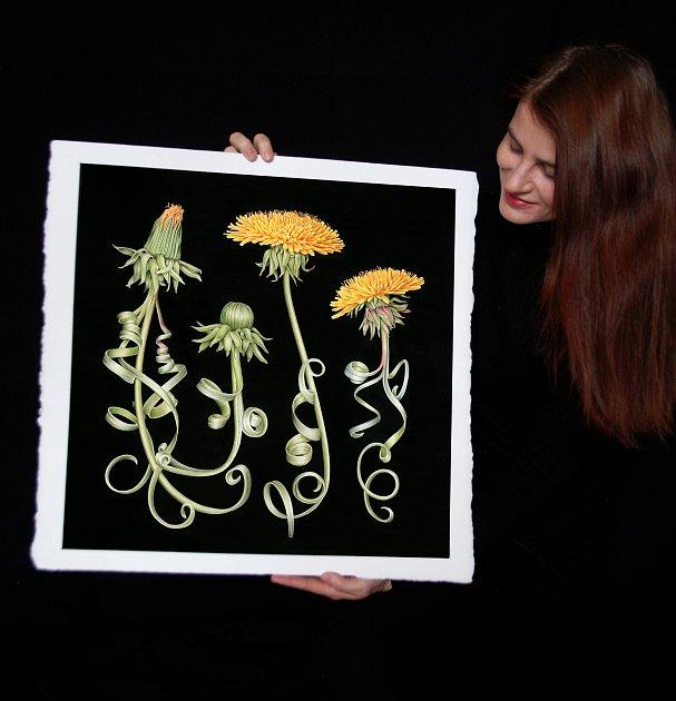 Botanická umělkyně Pavlína Kourková žije a tvoří už několik let vPlzni.