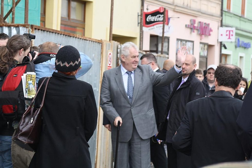 Prezident Miloš Zeman v Rokycanech
