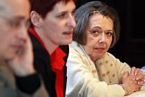 Známá česká herečka a předsedkyně Umělecké rady DJKT Jiřina Jirásková (vpravo) se zúčastnila výročního zasedání umělecké rady DJKT. Spolu sní také náměstkyně primátora Marcela Krejsová a ředitel DJKT Jan Burian