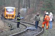 Srážku s vlakem muž nepřežil