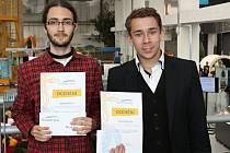 Studenti Marek Vecl a David Škarda za aplikaci obdrželi speciální ocenění v soutěži Řemeslo má zlaté dno
