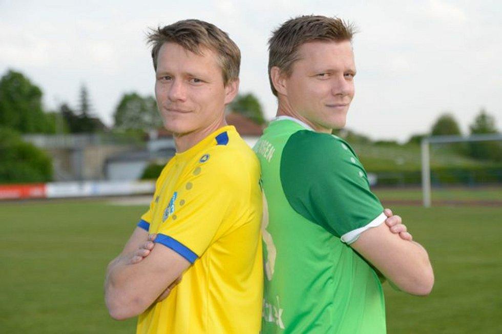 DVOJČATA Lukáš a Tomáš Krbečkové v dresu německého Bogenu.