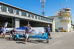 Sraz historických větroňů na letišti v Plasích
