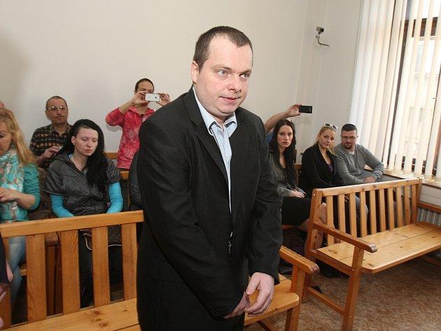Jaroslav Hrdlička u soudu v Plzni