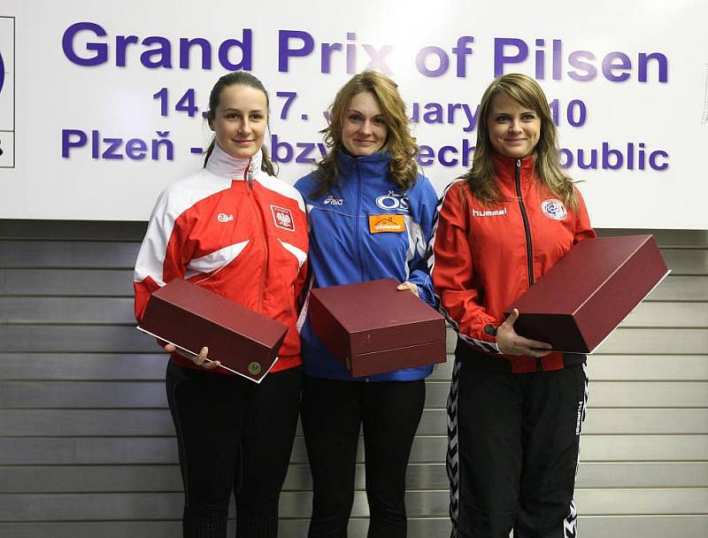 Kateřina Emmons v  pátečním závodě puškařek na vzduchovkovém Grand Prix Plzeň v Lobzích